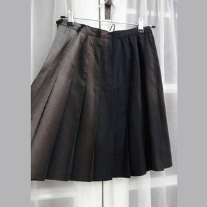 90s Goth Faded Pleated Schoolgirl Skirt